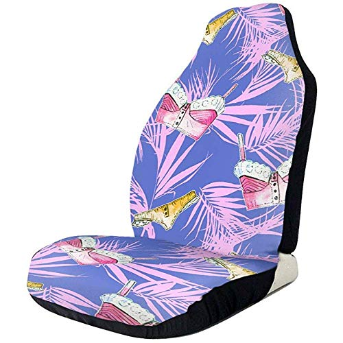 Tropische bladeren en badpakken mode autostoelhoezen voorstoelen