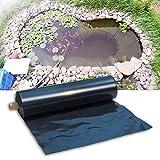 MAHFEI HDPE Gummiteichfolie, Gartenpoolmembran Flexibel Schwimmteich Folie Schwerlast Fischteichfolie Für Koi-Teiche Brunnen Wasserspiel Patio Teich Pool (Color : Black/0.4mm, Size : 5x9m)