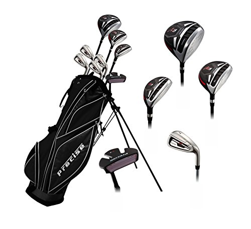 Precise M5 Teenager Complete Golf Set Includes Driver, Fairway, Hybrid, 7,9, PW, SW, Putter, Stand Bag, 3 HC'S Teen Ages 13-16 Right Hand