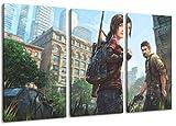 The Last of Us Motiv, 3-teilig auf Leinwand (Gesamtformat: