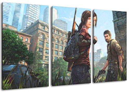 The Last of Us motief, 3-delig op canvas (totaal formaat: 120 x 80 cm), hoogwaardige kunstdruk als wandafbeelding. Goedkoper dan een olieverfschilderij! Let op: geen poster of affiche!