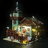 HLEZ Conjunto de Luces Lluminación para Antigua Tienda de Pesca Modelo de Bloques de Construcción, Kit de luz LED Compatible con Lego 21310 (Modelo Lego no Incluido)
