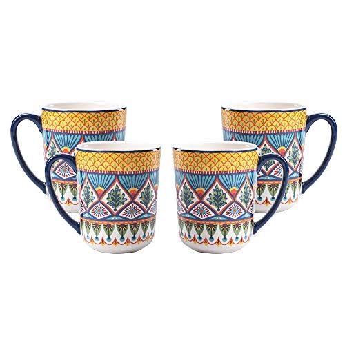 Bico Havana Keramikbecher, 4er-Set, für Kaffee, Tee, Getränke, Mikrowelle und Spülmaschinenfest