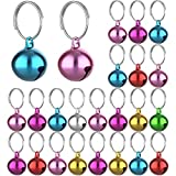 24 Sets of Cat Bells for Cat and Dog Collar Pendant Pet Cat and Dog Bell Pet Pendant Accessories (Mixed Color)