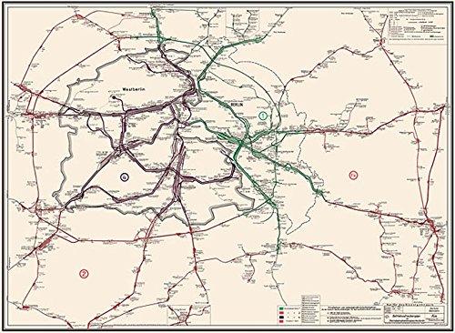 Betriebsstreckenplan / Gleisplan Reichsbahndirektion Berlin 1973: Restaurierter Reprint der Originalkarte als Poster auf Kunstdruckpapier im Format 59 ... (Sammler-Edition Historische Eisenbahnkarten)