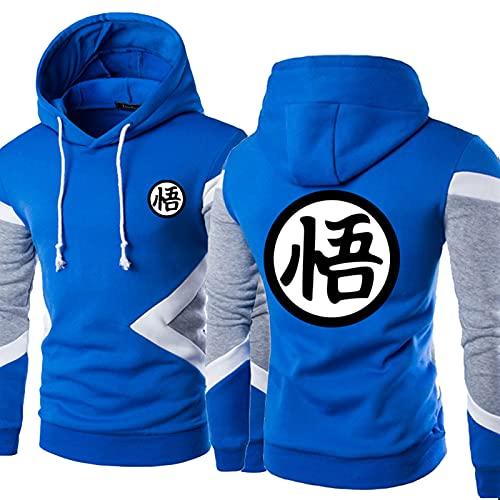 Sudaderas con Capucha para Hombres Sudaderas - Goku Imprimir 3D Jersey Baseball Jersey Casual Sportswear Abrigo De Manga Larga - Adolescentes Regalo C-L