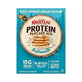 Krusteaz Buttermilk Protein Pancake, Flapjack and Waffle Mix (Pack of 3)