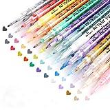 Acrylic Paint Pens, 24 Colors 0.7mm Tip Paint Markers Set for Rock Painting, DIY Photo Album, Scrapbook Crafts, Ceramic, Glass, Canvas, Metal, Wood, Stone