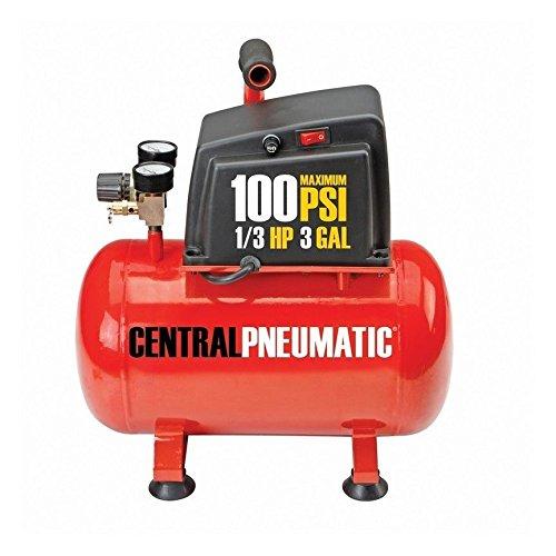 3 Gallon 100 PSI 1/3 HP Oilless Electric Portable Air Compressor