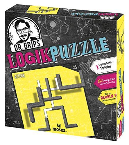 Moses 90324 Dr. Grips Logikpuzzle   Das Puzzlespiel mit Suchtfaktor   Logikspiel für 1 Spieler, bunt
