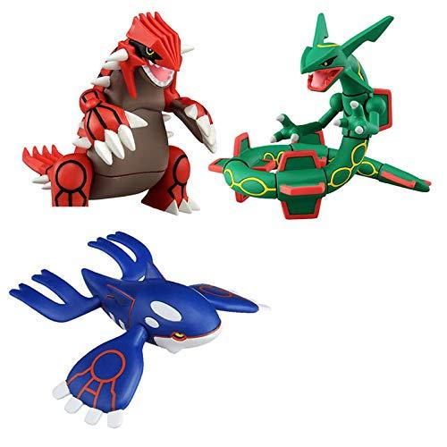 zzdgfc 3 Piezas Pokemon Sol Y Luna Kyogre Groudon Rayquaza Figura De Acción Modelo Juguetes Figura De Anime Muñecas Colección De Juguetes Regalos para Niños