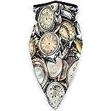 MLNHY cubierta de cara cómoda a prueba de viento, tema antiguo una pila de varios diferentes relojes estilo vintage retro patrón Design.jpg, decoraciones faciales impresas para todos