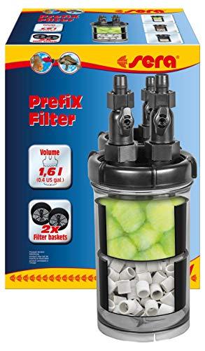 sera PrefiX Filter ein Vorfilter, Biofilter und Schnellfilter zum Anschluss an eine Pumpe bzw. Außenfilter am Aquarium, zur Erweiterung des Filtervolumens für Filterkohle, Phosphat & Silikat Entferner