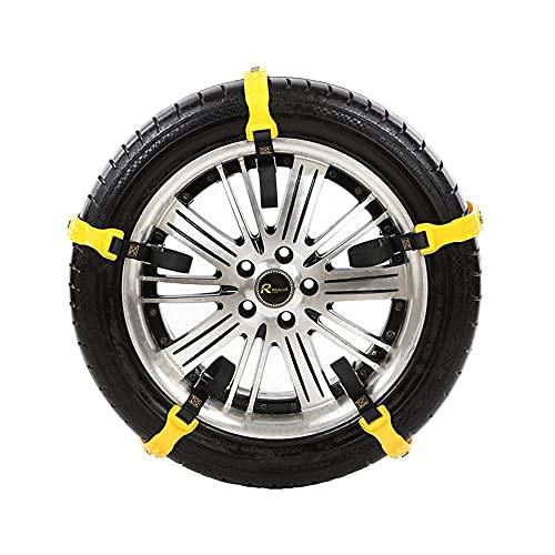 YHtech Cadena Coche de la Nieve Neumáticos de Invierno Auto Universal TPU Antideslizantes neumático de la Rueda de Nieve Cadenas Auto Ruedas Cinturón Coche-Labra los Accesorios