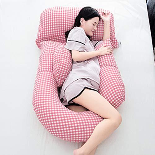 Oreiller De Grossesse/Oreiller De Maternité Multifonctionnel En Forme De U Côté Oreiller De Couchage Coton Amovible Et Lavable Lever L'oreiller Enceinte I