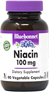Sponsored Ad - BlueBonnet Niacin 100 mg Vegetable Capsules, 90 Count ('743715004597)