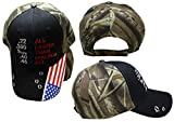 .22 .380 9mm .40 .45 All Faster Than Dialing 911 Black Woodland Camouflage Camo USA Flag On Bill Bullet Holes Embroidered Hat Cap