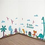 Pegatinas Dinosaurios mix para pared o cristal diseño libre decoracion orginal y alegre caravanas, habitaciones,dormitorios cuartos juego guarderias consultas niñ@s de CHIPYHOME