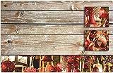 matches21 - Set di tovagliette con motivo natalizio, con palline decorative e tagliere in legno, 1 pezzo, in plastica, 43,5 x 28,5 cm, lavabili