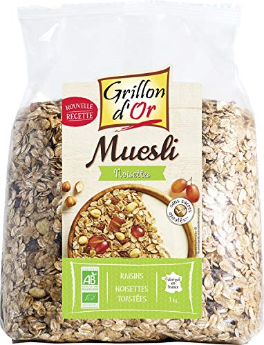 Grillon d'or Muesli Noisettes 23% de Fruits BIO, 1 kg
