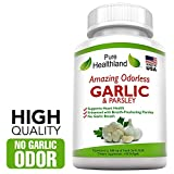 100 Cápsulas Blandas De Suplementos de Alta Potencia Inodoras De Ajo Y Perejil. Rico En Antioxidantes Naturales