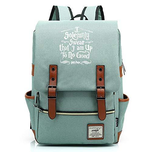 NYLY Unisex Leisure Backpack, zaino per giovani, Harry Potter e la borsa della scuola ammortizzatori della morte Grande Verde