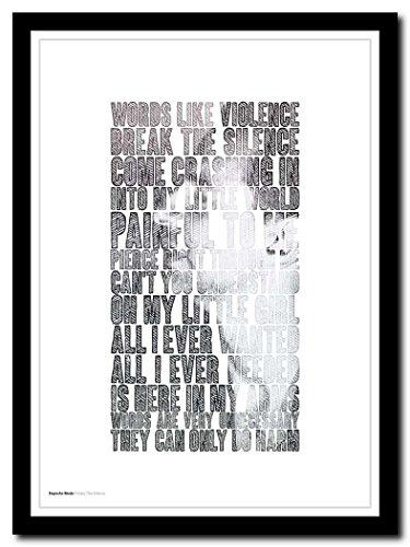 Depeche Mode – Enjoy The Silence – A3 Songtext Typografie Poster Kunstdruck, limitierte Auflage #2