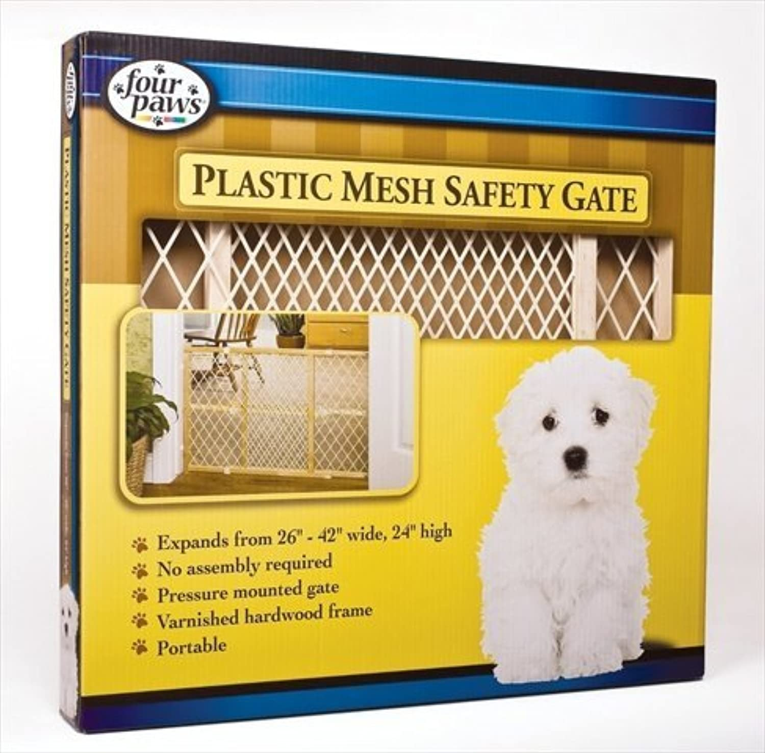 Four Paws 456384 Wood WPlast Pressure Gate 24H