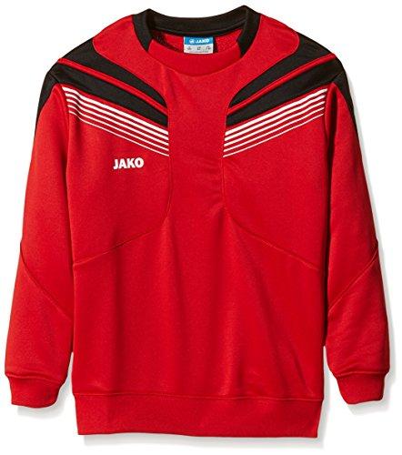 JAKO Herren Trainingssweat Pro, Rot/Schwarz/Weiß, 152