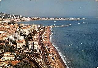 La Cote d'Azur, La plage du Midi Cannes France Postcard