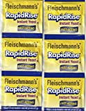 2 Strips Fleischmann's RAPID RISE INSTANT YEAST (6 Packs Of 1/4 Oz) For Bread...