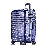 AHJSN 20'24' 26'29' Marco de Aluminio Duro Trolley de Viaje Maleta para niños Bolsa Trolley para Viajar 20'Azul