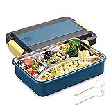 Anyingkai Lunch Box,Lunch Box con 2 Scomparti,Bento Box con Posate,Lunch Box Termico Ermetico,Lunch Box Termico,Lunch Box Termico per Alimenti,Porta Pranzo da Ufficio