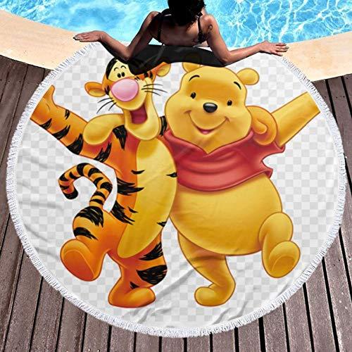 Win-nie The Pooh Toalla de playa, ligera, resistente al cloro, toalla de piscina, perfecta para tumbonas, toallas de baño, playa y gimnasio