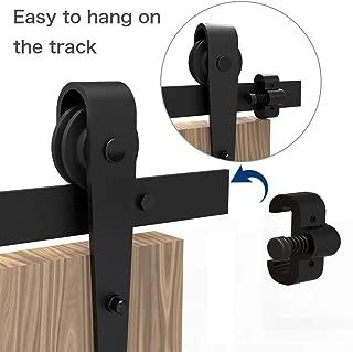 CCJH Upgrade Adjustable Door Stoppers Black, Stop Accessories for Sliding Door Hardware Kit, Limit Device, Flexible Installation, 1 Pair