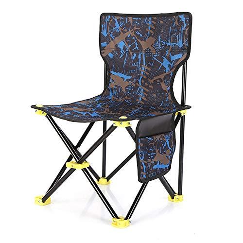 Sedia da campeggio portatile con tasca laterale, sedia pieghevole leggera con tasca completa per la schiena, sedie da campeggio, escursionismo,...