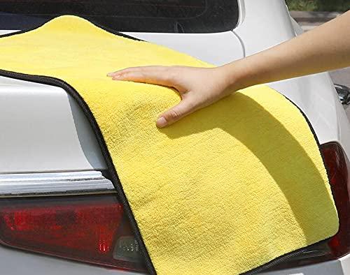 NA Toalla de lavado de coche de forro polar, doble cara espesada paños de limpieza de coche toalla absorbente trapo toalla de limpieza de vidrio