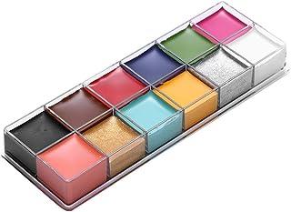 12 kleuren make-up vet verf Schmink Kit Veilig, bodypainting olieverf, Halloween-feest verjaardag Diy gezicht make-up graf...
