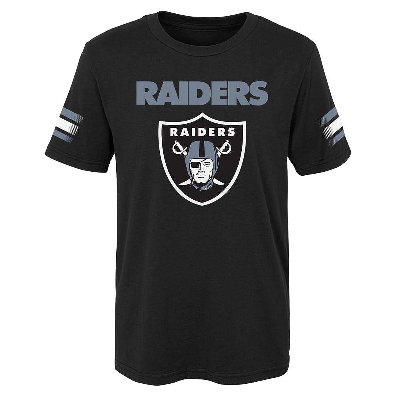 Outerstuff Kids Oakland Raiders Tee Goal Line Short Sleeve T-Shirt
