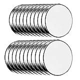 ECENCE Magneti al neodimio 20 pz. - magneti adesivi rotondi autoadesivi - 10x1,5mm - rivestimento NiCuNi di alta qualità - magneti a disco