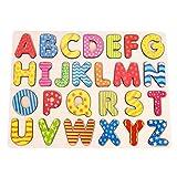 Fdit Niños de Madera Puzzle Mano Agarrar Tablero Conjunto Educativo Regalo de Juguete de Dibujos Animados(#2)