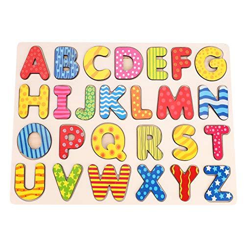 Puzzle de madera, alfombra de juego de aprendizaje preescolar, letras alfabeto, bloques de construcción, juguetes educativos, juegos de calcula