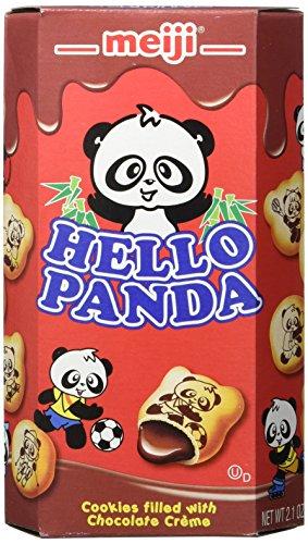 Meiji Hello Panda Cookie, Chocolate, 2.1 Ounce (Pack of 10)
