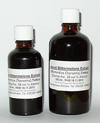Asvet 50ml Bittermelone Extrakt, Tropfen, Momordica Charantia, Ampalaya Konzentrat