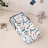Cama de nido portátil para niños y niñas, cama de viaje, cuna de algodón para bebé, cama recién nacida y barata (color: C22)