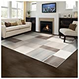 Superior Elegant Clifton Area Rug Rectangular Tile Modern Pattern, 4' X 6', Multi-Colored