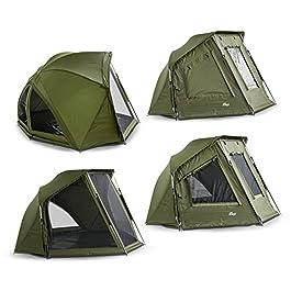Lucx® Wiesel Brolly Tente de pêche pour 1 Personne 240 x 275 x 150 cm Colonne d'eau 10 000 mm