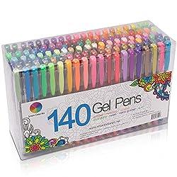powerful 140 colors smart color art gel pen set adult gel pen coloring for painting drawing drawing writing