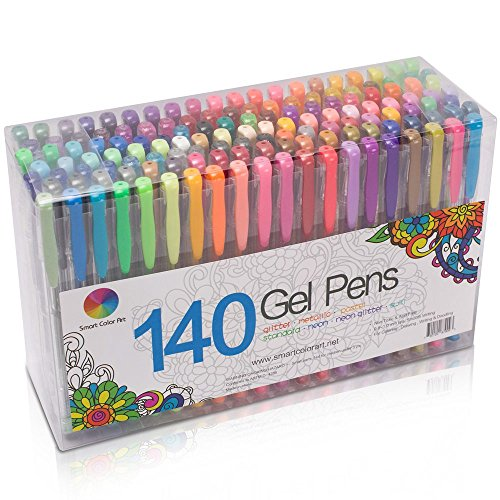 Smart Color Art 140 Colors Gel Pens Set