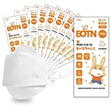 [10-pack] BOTN Kids Small KF94 Adjustable Strap Korean Safety Face Mask [Made in Korea][Individually packaged] - Small White